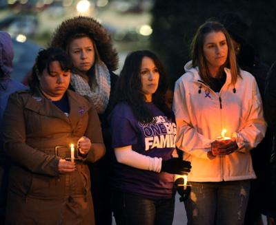Vigil for shooting victim