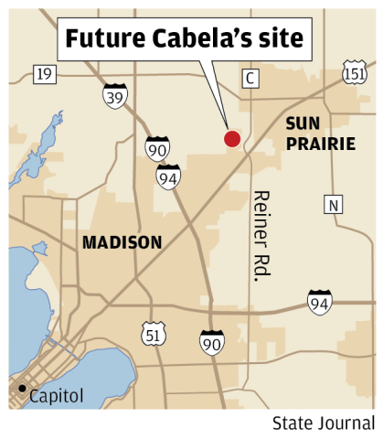 Cabela's to build 86,000-square-foot store in Sun Prairie ... on urban outfitters map, kmart map, nordstrom map, old navy map, meijer map, target map, cvs map, gander mountain map, barnes and noble map, walmart map, toys r us map, sams club map, menards map, coldwater creek map, indians in washington location map, guitar center map,