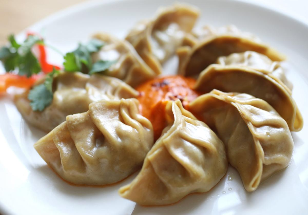 HungryBadger Cafe beef momo