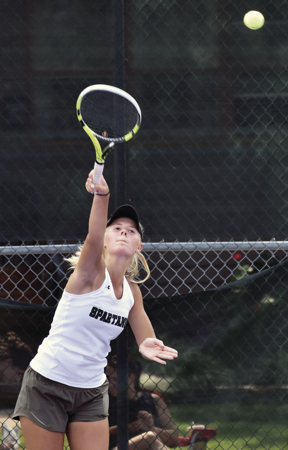 Prep girls tennis photo: Madison Memorial No. 1 singles player Grace Olson