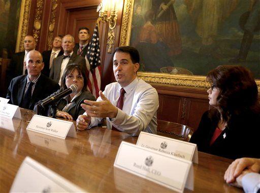 Scott Wallker and cabinet
