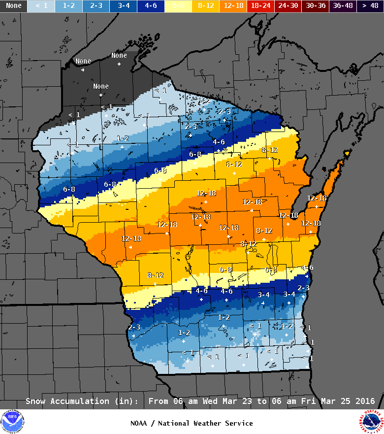 Madison area to escape brunt of big storm set to dump foot plus of