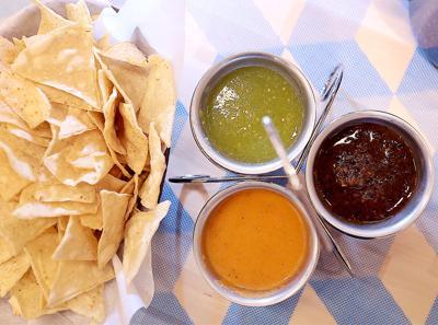 BelAir Cantina chips and salsas