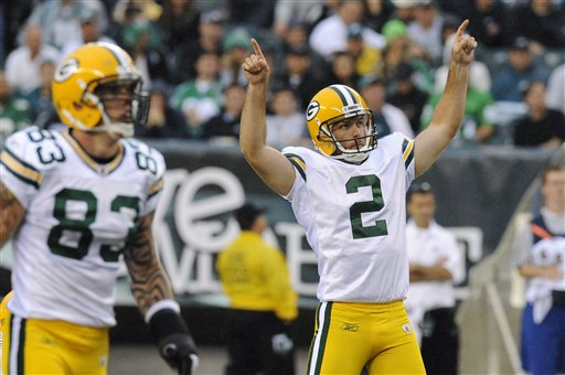 Mason Crosby, Tom Crabtree, Packers at Eagles