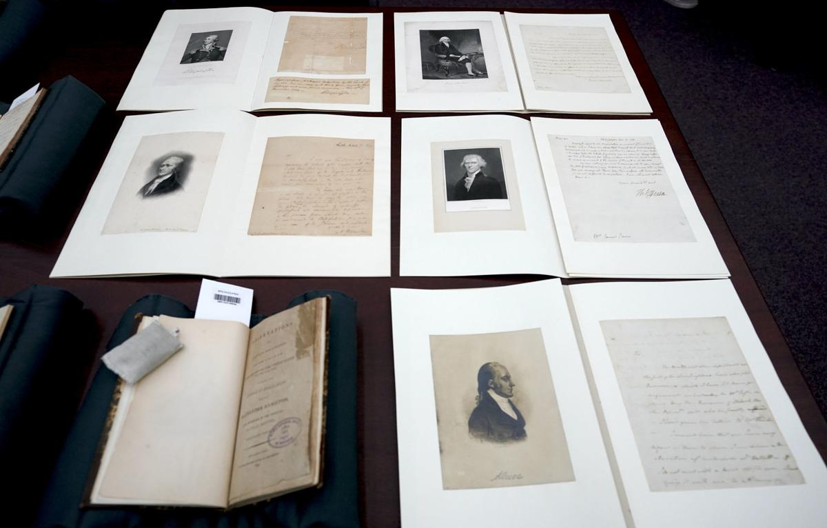 Alexander Hamilton documents on display at Overture Center