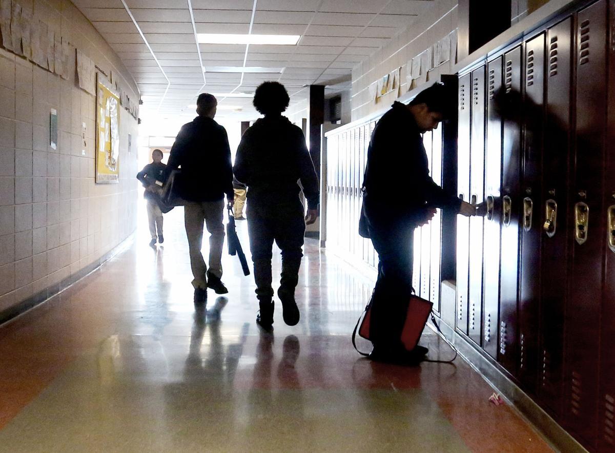 Wright Middle School hallway (copy)