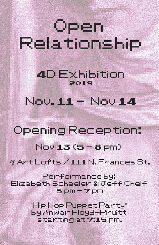OPEN RELATIONSHIP: UW ART 4-D AREA EXHIBITION