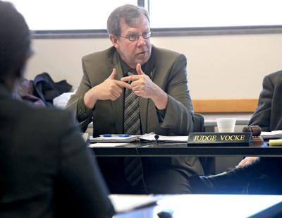 GAB director and general counsel Kevin Kennedy talks to board members (copy)