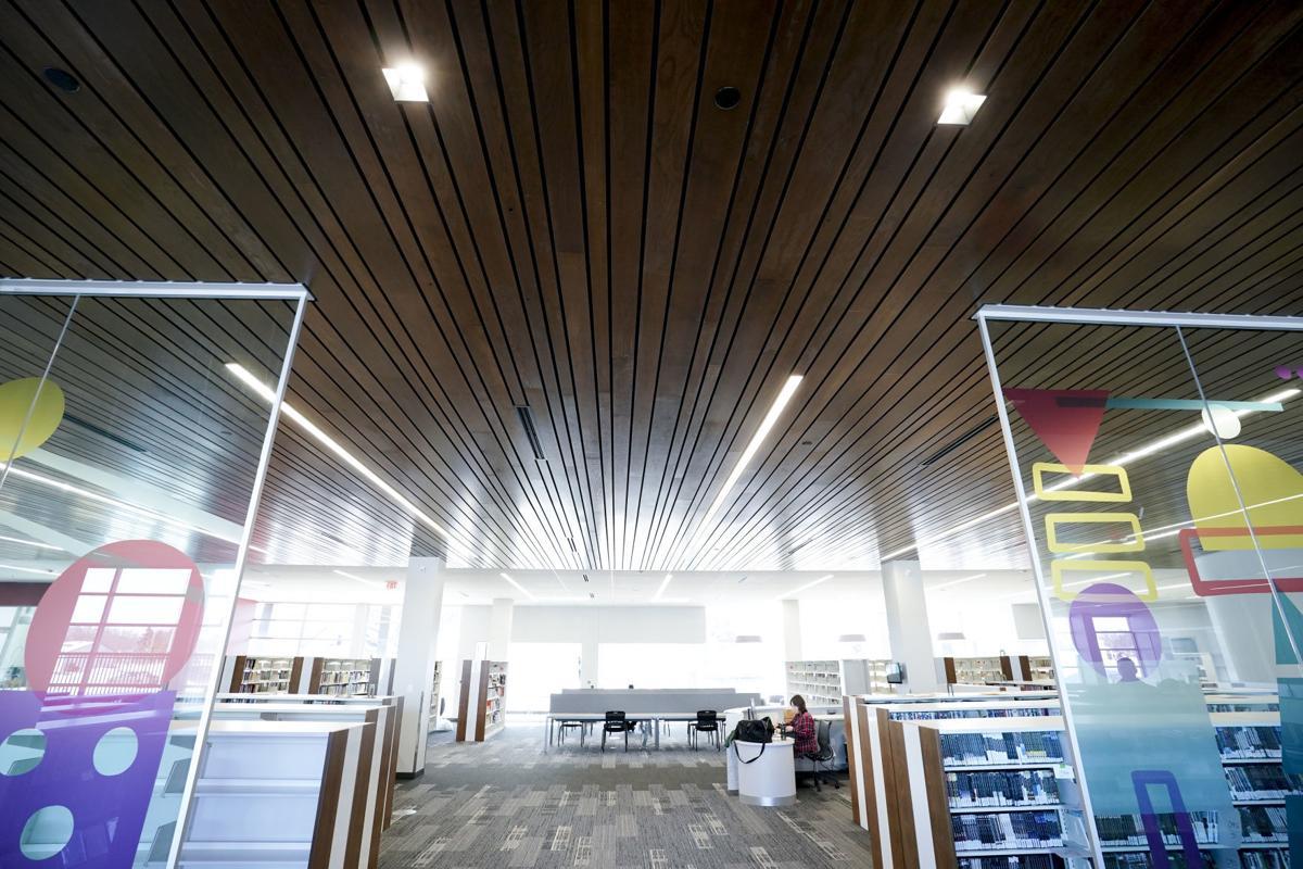 Pinney Library - ash ceilings