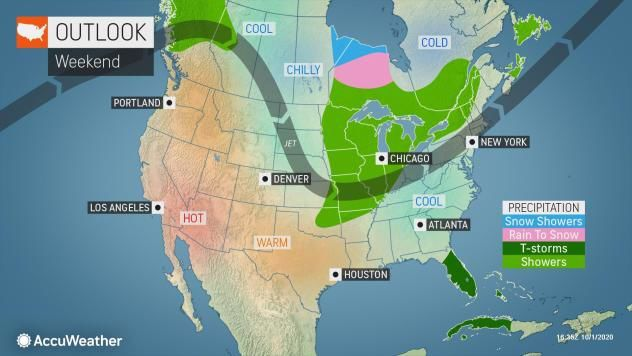 Weekend outlook by AccuWeather