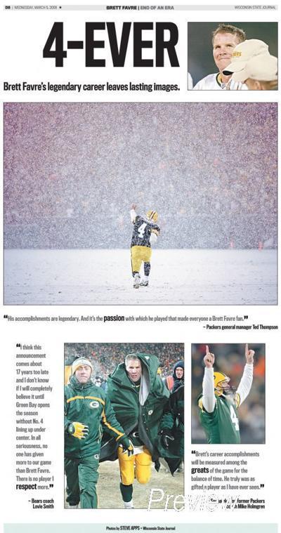"Brett Favre ""Snowglobe"" Page"