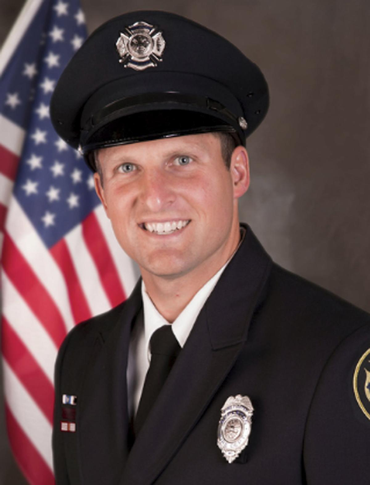 Appleton firefighter Mitch Lundgaard