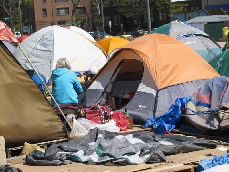 Occupy tent city