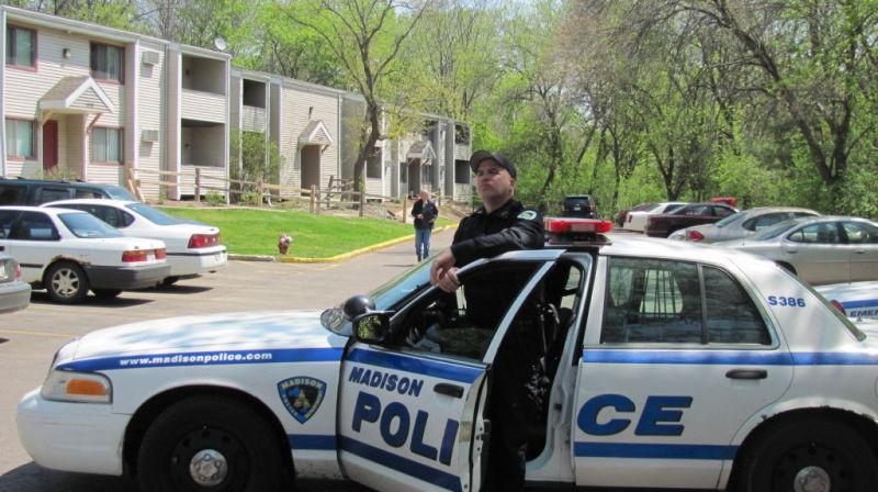 Madison police shooting scene