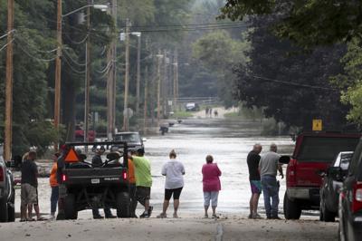 Black Earth Creek floodwaters