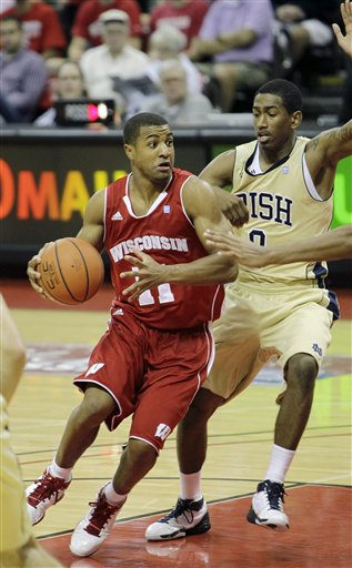 Jordan Taylor, Eric Atkins, UW men's basketball vs. Notre Dame
