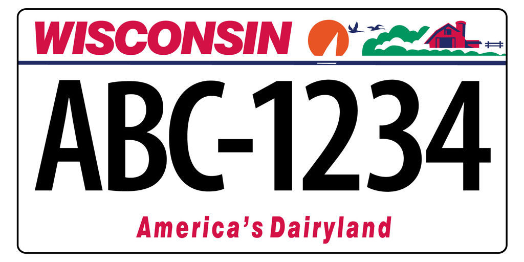 Wisconsin License Plates To Have 7 Characters All 6 Character