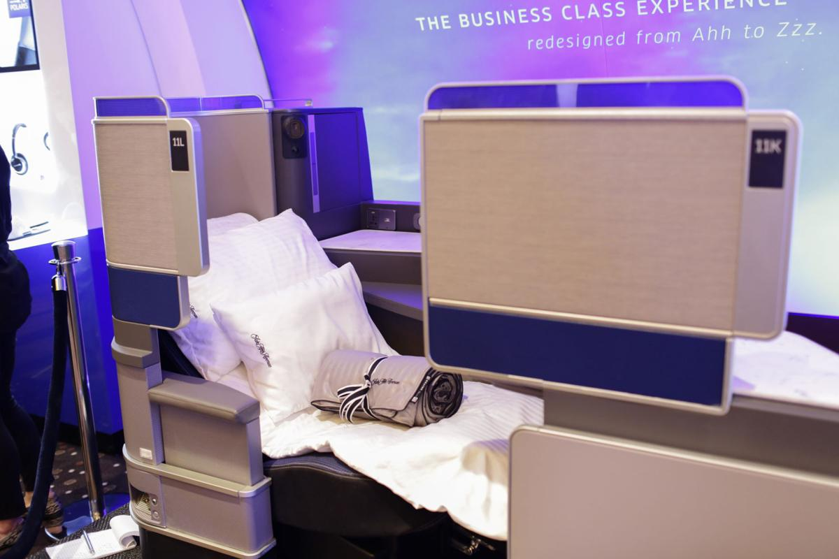 United Airlines unveiled its all-new United Polaris business class, the airline's most significant product transformation in more than a decade, including 6-foot-long sleep pods/seats, here in a June 2016 image.