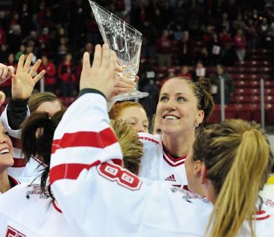 Meghan Duggan, UW women's hockey, WCHA trophy