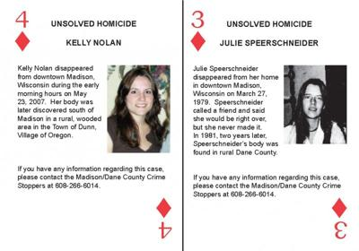 unsolved homicide card deck kelly nolan julie speerschneider