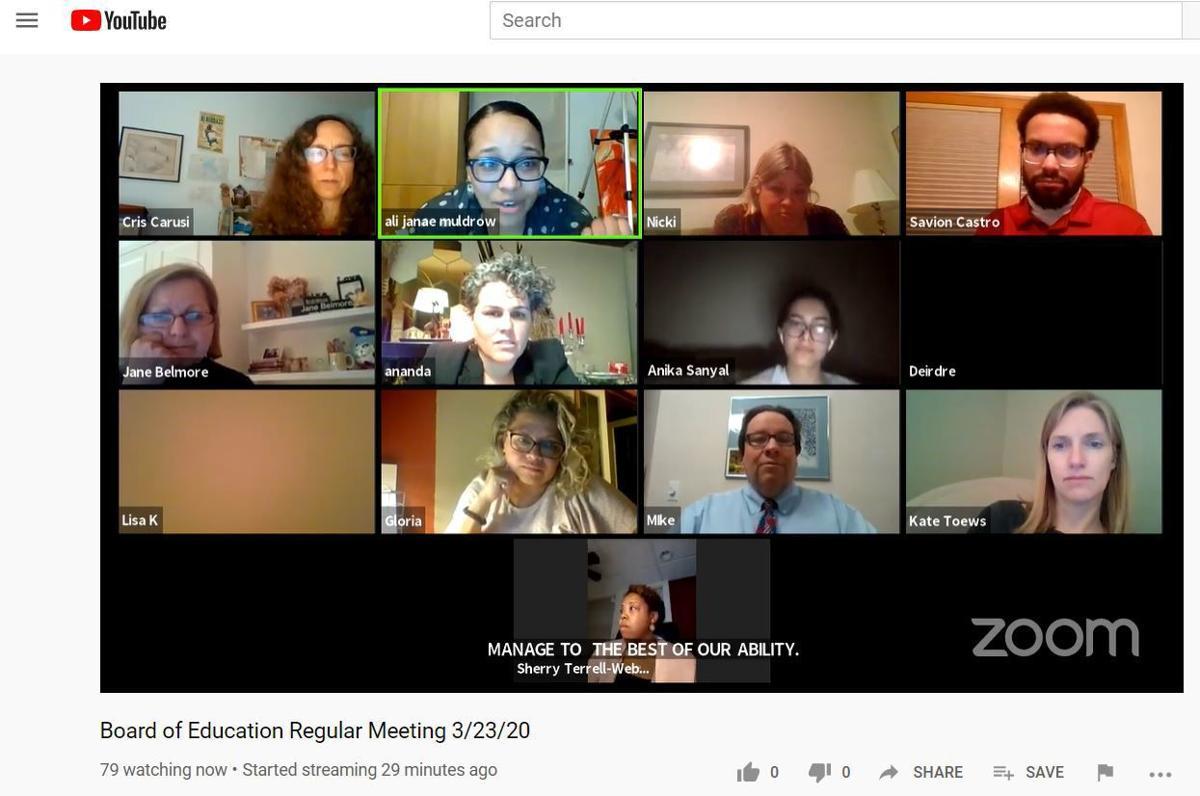 Virtual Madison School Board meeting