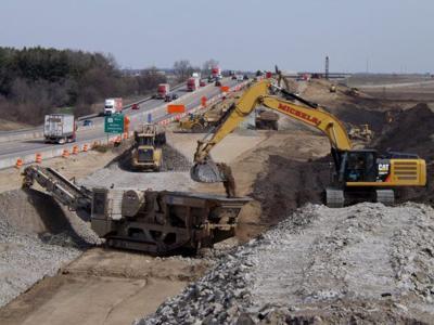 I-39/90 construction, DOT generic file photo