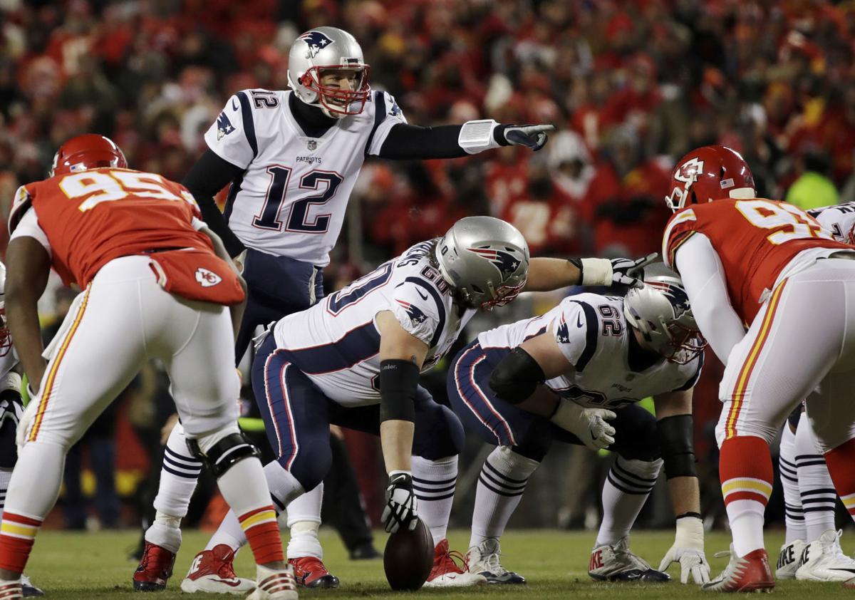 official photos 570e4 d0a8b ... line during New England s win over the Chiefs in the AFC title game.  The Rams and Patriots are bringing two of the top scoring offenses in the  NFL ...
