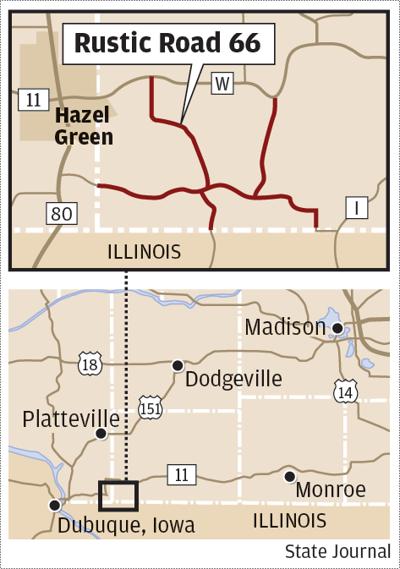 Rustic Road 66 map