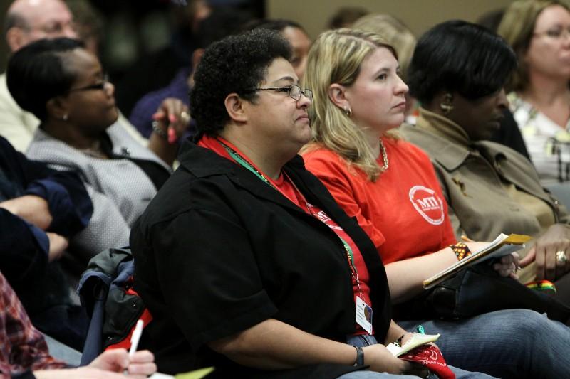 Achievement gap plan unveiled main, Kira Fobbs, Caolyn Konkol