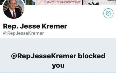 Kremer Twitter block