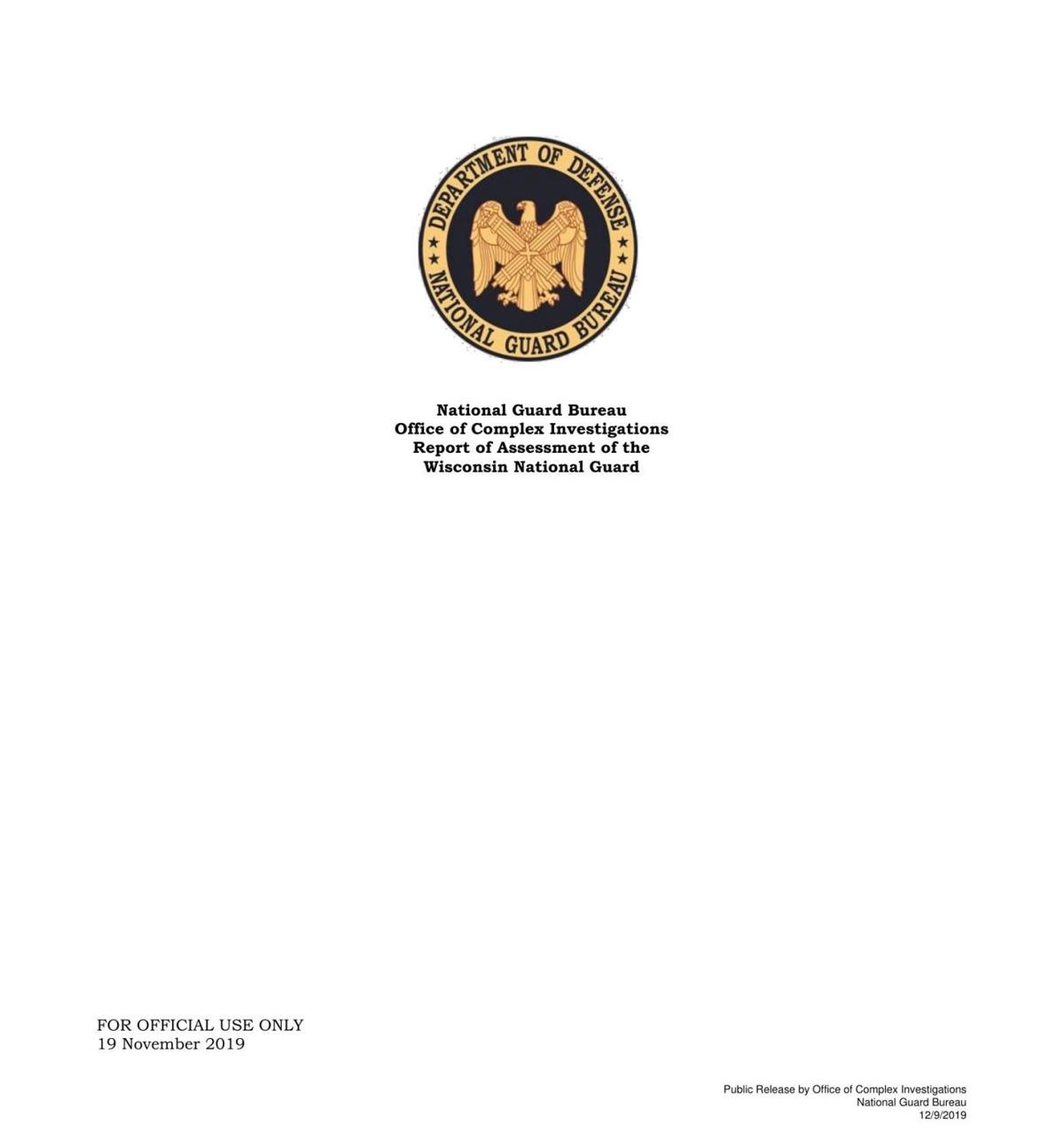 National Guard Bureau report