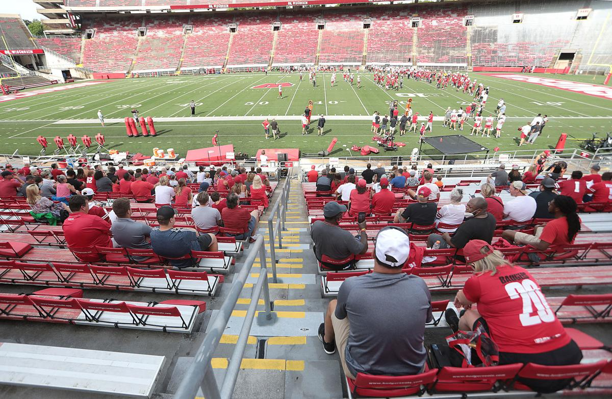 Badgers fans take in practice