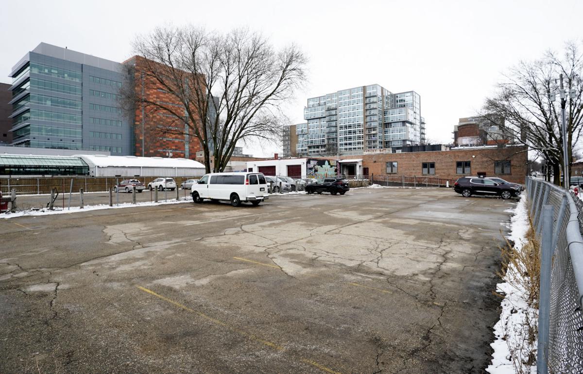 East Washington Avenue development proposal; - parking lot