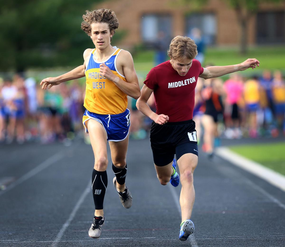 Olin Hacker, Perrin Hagge, Big Eight Conference track meet