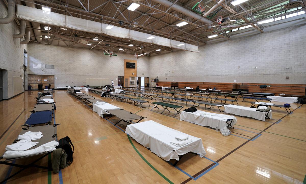 Warner Park men's shelter - cots