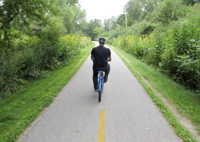 Biking on the Southwest Commuter Path