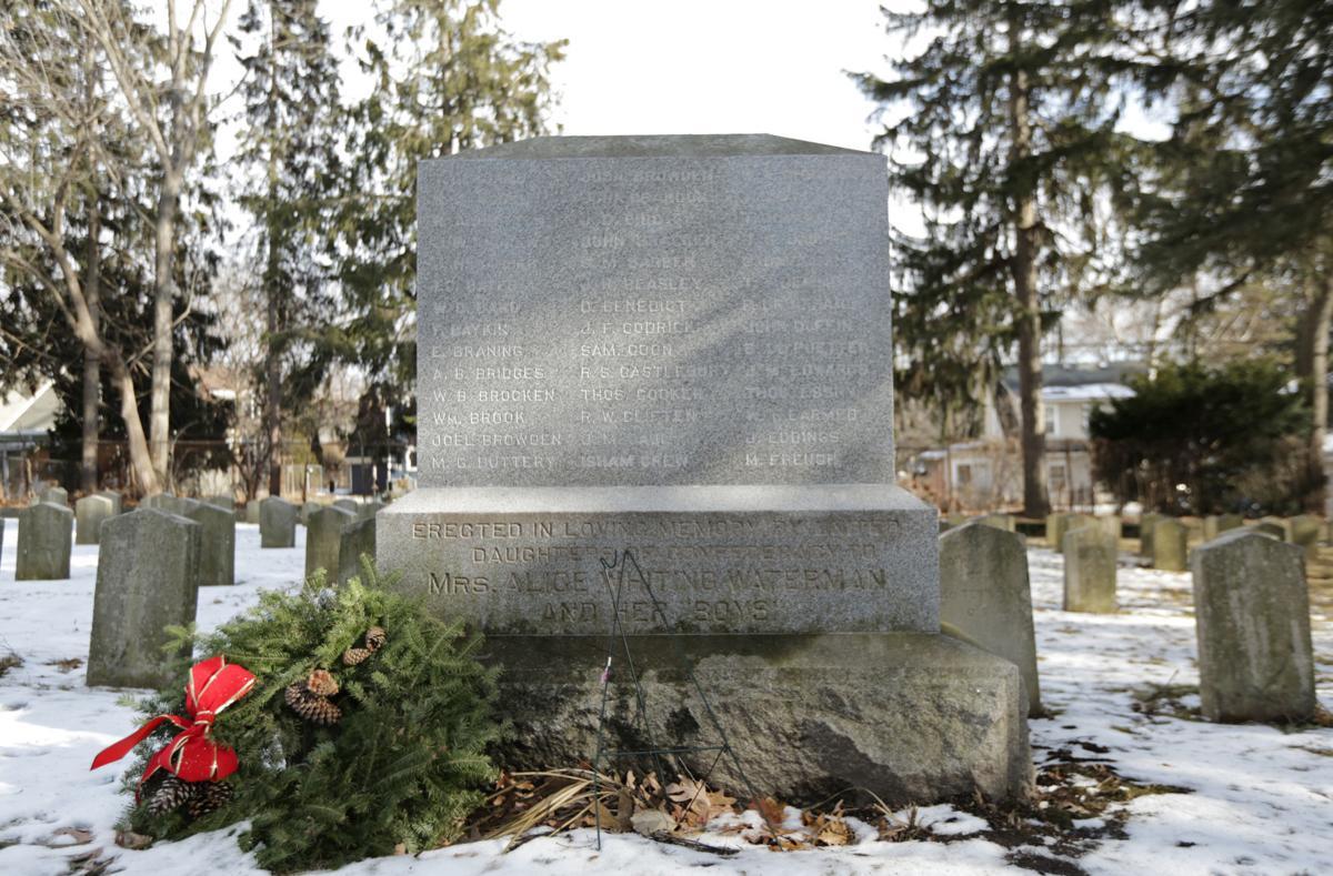Confederate monument detail