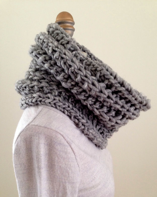 Pointelle cowl scarf