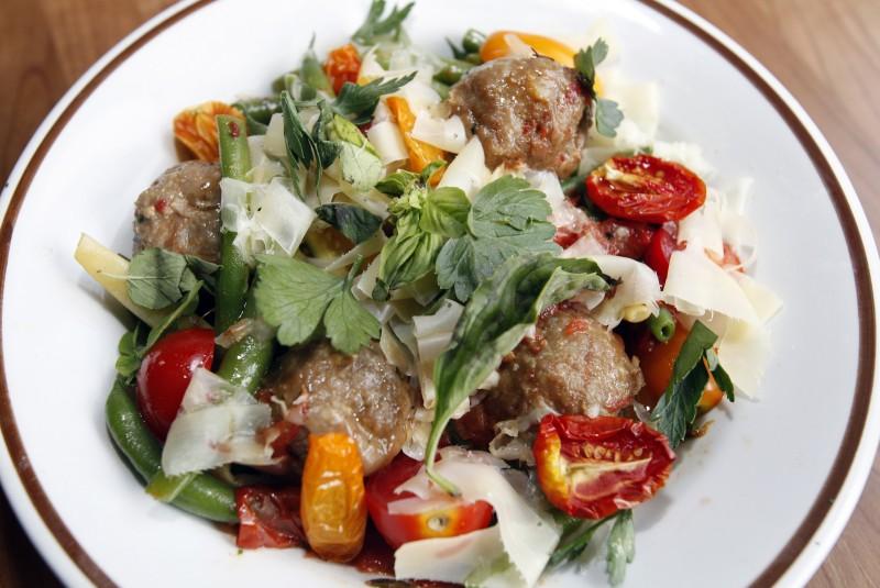 Forequarter, veal meatballs