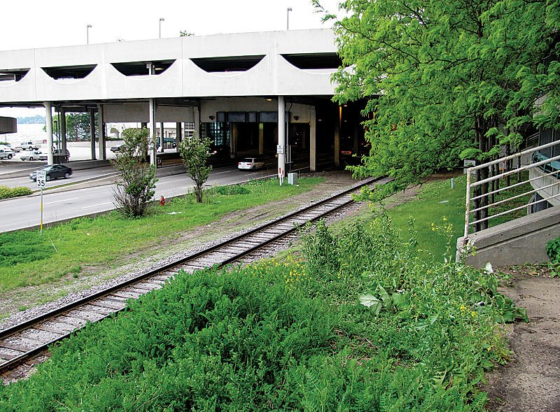 Monona Terrace railroad tracks