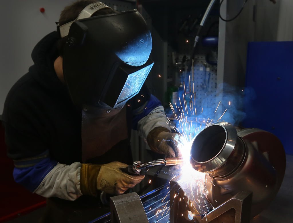 Cummins Emission Solutions welder at work