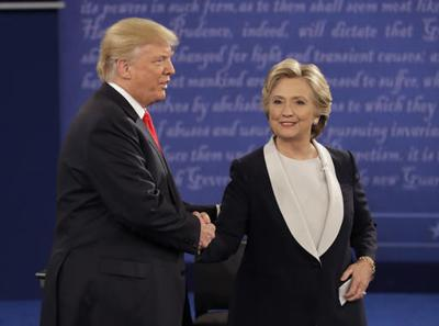 Trump and Clinton at debate