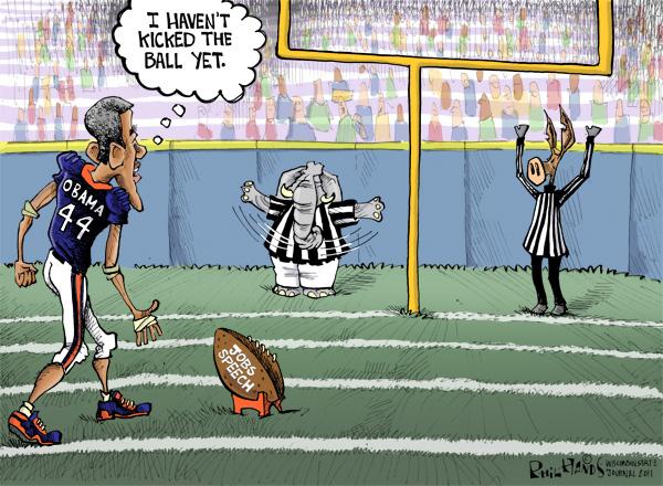 Hands Cartoon: Presidential Field Goal | | madison com