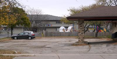 Future men's homeless shelter building