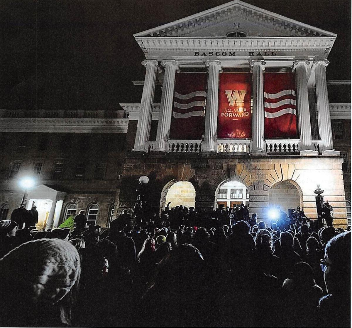 uw-madison black out march