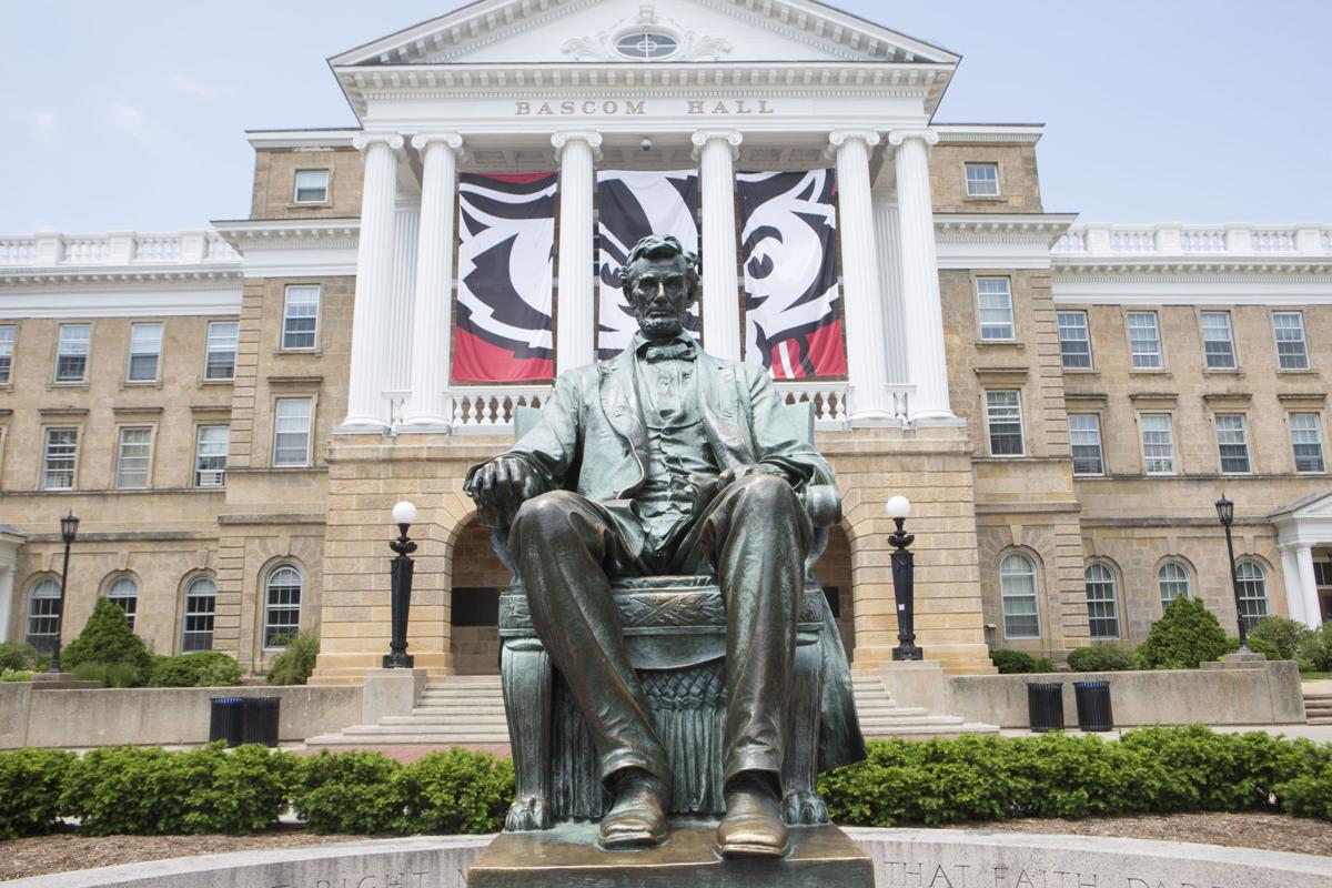 Abe Lincoln statue on Bascom Hill at UW-Madison, Cap Times generic file photo