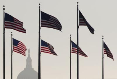 Flags on the Mall near U.S. Capitol (copy)