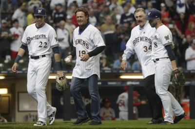 Robin Yount, Rollie Fingers, Opening Day 2019, AP photo