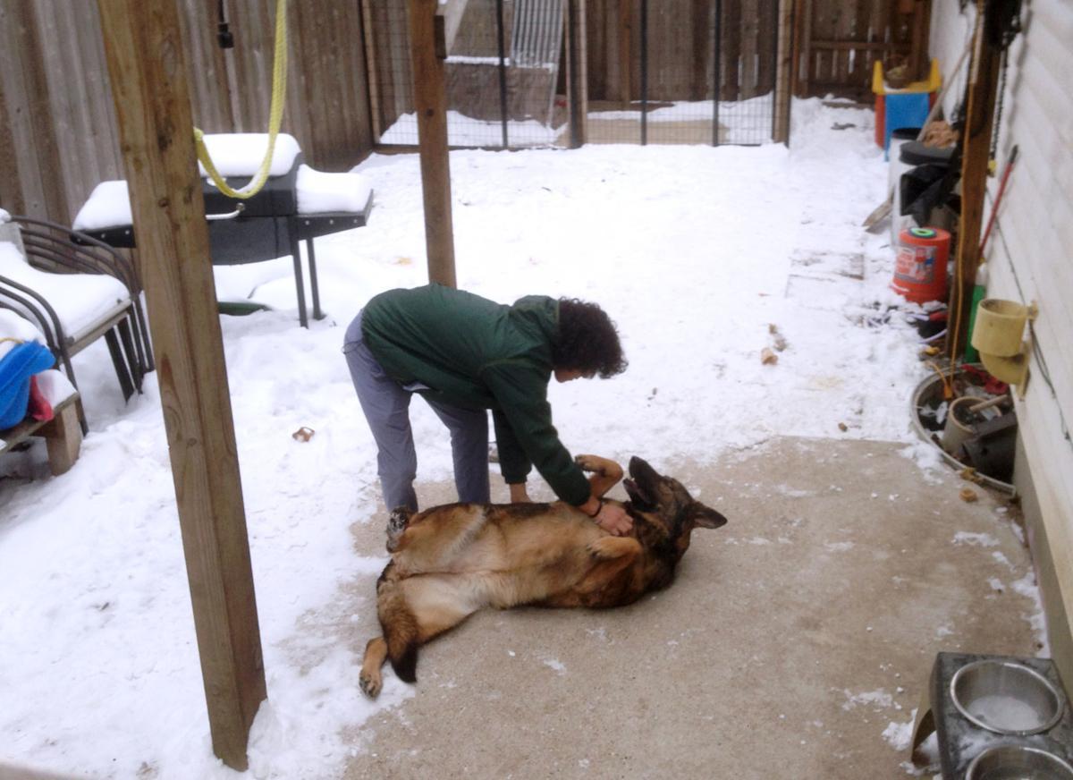 Kiara in backyard