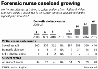 Forensic nurse caseload table for print